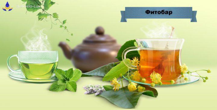 Чашка чаю з весни та мінеральної води